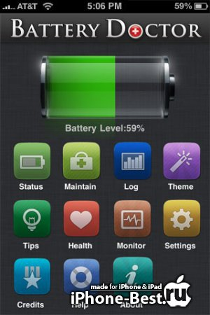 Battery Doctor Pro - Max Your Battery Life [RUS][UKR] [6.2] [ipa/iPhone/iPod Touch/iPad]