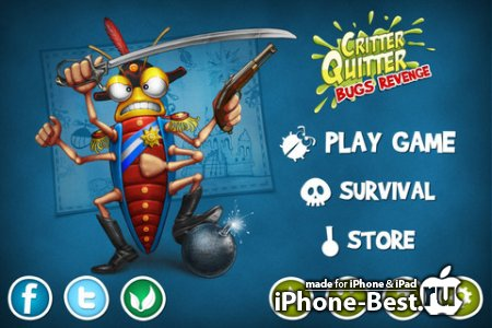 Critter Quitter: Bugs Revenge [1.3.0] [ipa/iPhone/iPod Touch/iPad]