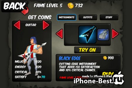 Rise to Fame: The Music RPG [1.1.1] [ipa/iPhone/iPod Touch/iPad]
