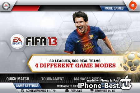 FIFA 13 by EA SPORTS [1.0.9] [ipa/iPhone/iPod Touch/iPad]