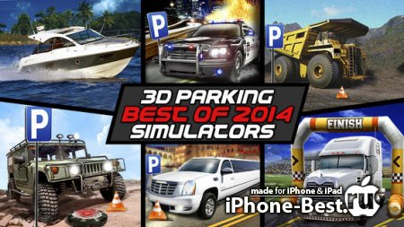 3D Parking Simulator Compilation Best of 2014 – Park Real Car Truck Plane and Boat Free Simulation Game PRO [1.0] [ipa/iPhone/iPod Touch/iPad]