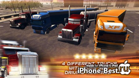 Trucker 3D Real Parking Simulator Game HD – Drive and Park Oil Truck and Semi Trailer [1.2] [ipa/iPhone/iPod Touch/iPad]