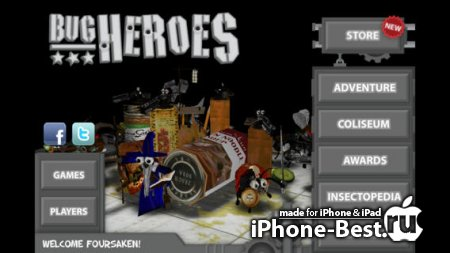 Bug Heroes Deluxe [1.1.5] [ipa/iPhone/iPod Touch/iPad]
