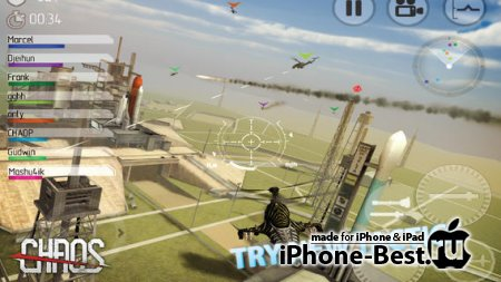 C.H.A.O.S HD Multiplayer Air War [6.2.0] [ipa/iPhone/iPod Touch/iPad]