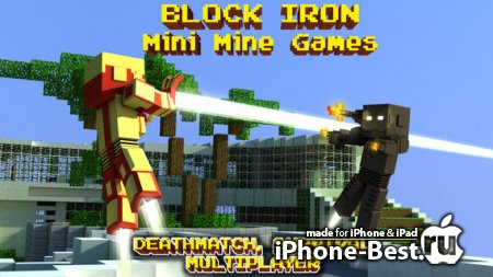 Block Iron Robot 3D (original) – Mine Mini Survival Craft & Multiplayer Game [1.1.4] [ipa/iPhone/iPod Touch/iPad]