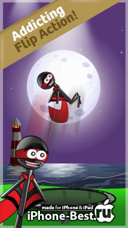 Stickman Trampoline PRO [2.1.6] [ipa/iPhone/iPod Touch/iPad]