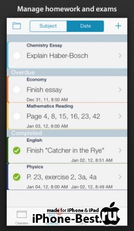 Classes – Schedule [2.6.7] [ipa/iPhone/iPod Touch/iPad]